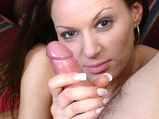 Hot Zoe gets on her knees and gives a lovely handjob