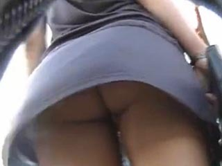 Hidden Upskirt Shot From Behind