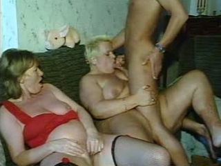 Slutty Mature Fatties Take Meaty Cocks