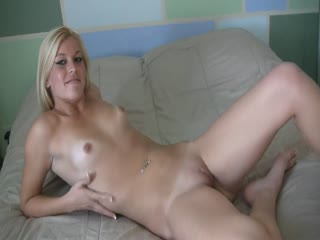 Cute Blonde Teen Dildoing Her Pussy