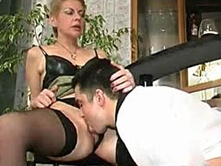 Horny Milf Seduces A Barman Into Hardcore Sex Ending Up Right On The Floor