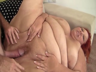 Big Sweet Mature Redhead Gets Nailed On The Sofa