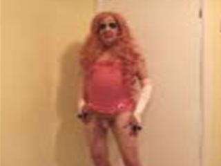Pink Haired Slut In Pink Slip