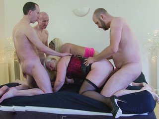 Mature Lacey Starr In Hardcore Group Sex And Blowjob