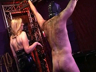 Hot Mistress Gives Her Slave In Bondage A Lesson