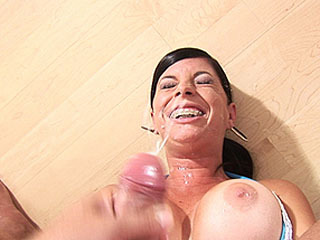 Tiffany Takes Shower Of Jizz