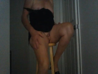 Sissy Slut Dancing On High Stool!