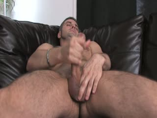Horny gay wanking