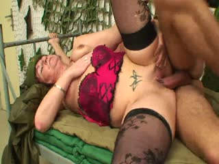 Young Soldier Fucks A Mature Brunette