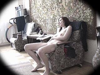 Horny Marina Caught Rubbing Her Pussy