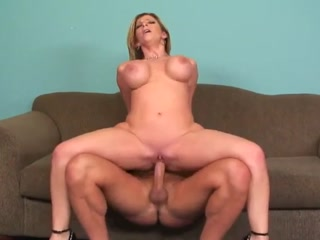 Very Hot Blonde Gets Cum On Her Huge Tits