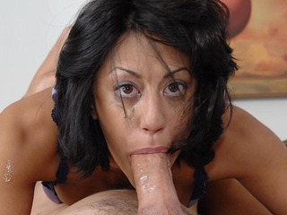 Lyla loves to get extreme throat jobs by a hard cock