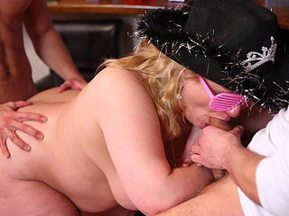 BBW In Fun Glasses Fucked At Party