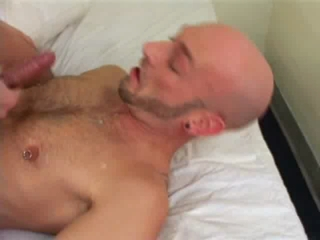 Bald Guy Giving Handjob