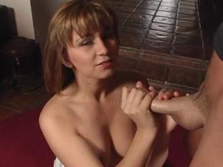 Sexy Milf Stroking A Cock