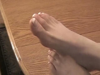 Beautiful Andi Really Enjoys Rubbing Her Feet Together