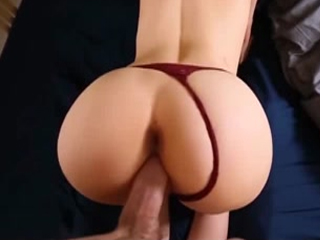 Hot European brunette cant refuse big hard cock