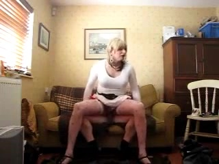 Amateur Sissy Bouncing On The Dick Rough And Gives Sexy Handjob