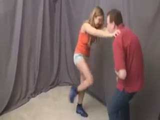Ballbusting Blondie In Sneakers