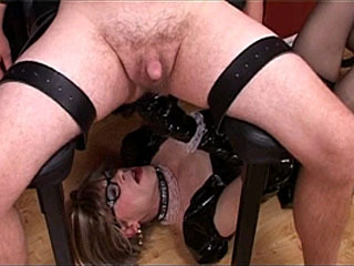 Naughty Mistress Erotically Tortures Her Many Slaves