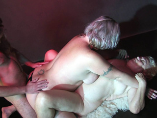 Old Fat Matures In A Threesome