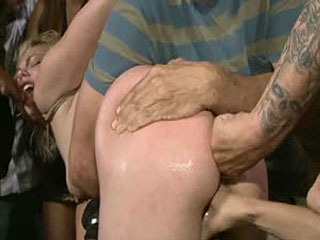 Blonde Cutie Tied-Up And Ass Fisted In Public!!!
