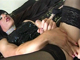 Horny Trannies In Handjob Action