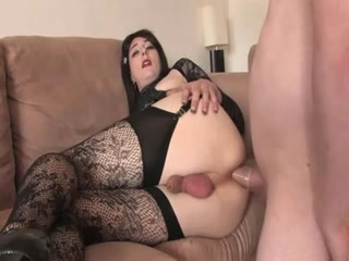 Sexy Goth Amateur Crossdresser Follada