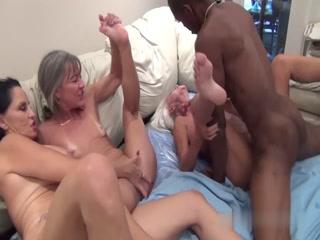 Three Mature Women Getting Fucked By Horny Black Stallion