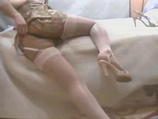 Pantyhose Stocking White Shiny