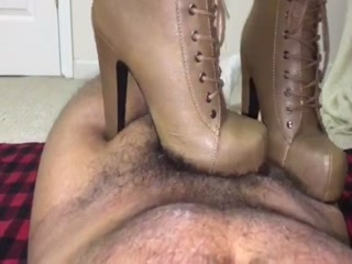 Taupe Boots Trampling