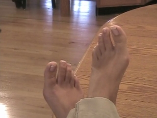 Lilah's Sexy Feet On The Table