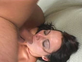 Huge dick for a beautiful brunette's ass