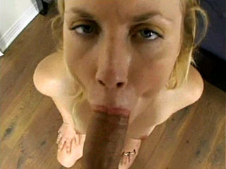 Hot chick gives a POV blowjob and gets fucked