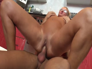 Mature Lady Getting Screwed In The Kitchen By Horny Student