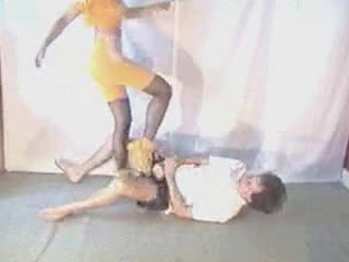 Femaledom-  Trampling Jumping Ballbusting OLD Video
