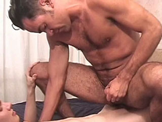 A gay guy gets fucked by big dick