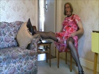 Pink Dress & Heels