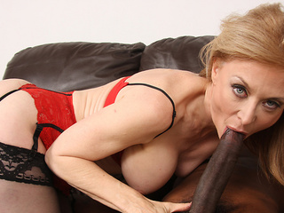Long Black Dick Slides In Nina Hartley's Horny Cunt