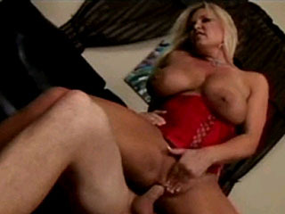 Busty Blonde MILF Gives Head And Gets Fucked And Filled Up With Cum