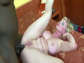Busty Mature Bitch Getting Warm Jizz On Her Tits