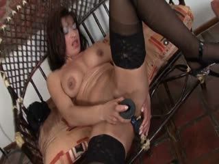 Busty Mature Playing With Her Toys