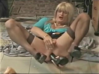 Horny Blonde Playing With Toys