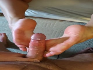 Wife Rubbing My Cock With Her Feet