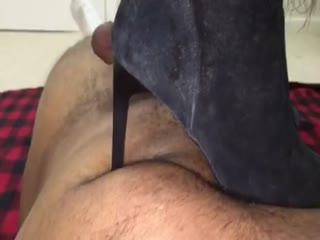 Black Suede Boots Trampling