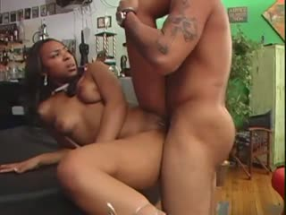 Hot Ebony Chick Fucked In A Bar
