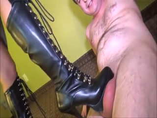 Mistress Kicks Balls Brutally