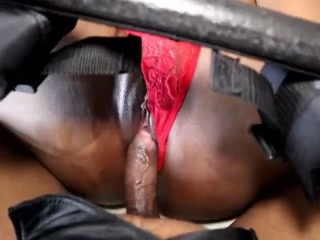 Ebony Babe Is Horny And Adores BDSM Banging