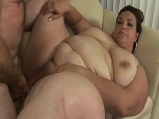 Fat girl fucked with a mature dick