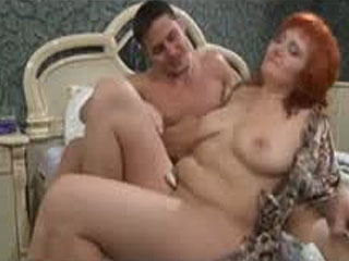 Red-Haired Milf Awakes A Sleepy Dude Ready For Numbers Game And Hard Score